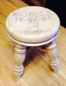 Named children's stools - £35