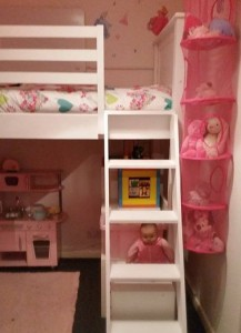 Child's bunk bed with storage