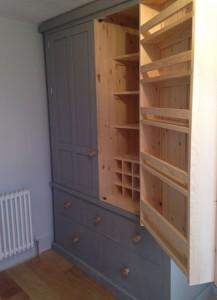 Painted kitchen larder