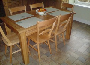 Table and chairs - ?599 (table only - ?349