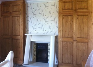 Fitted matching wardrobes (room being decorated)
